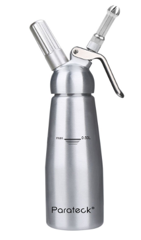 Parateck® Professional Aluminum Whipped Cream Dispenser